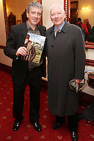 "NO REPRO FEE. 17/1/2010. The Field opening night. Billy Keane and Gay Byrne are pictured at the Olympia Theatre for the opening night of John B Keanes 'The Field"" Picture James Horan/Collins"