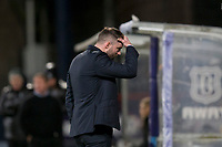 4th January 2020; Dens Park, Dundee, Scotland; Scottish Championship Football, Dundee FC versus Inverness Caledonian Thistle; Dundee manager James McPake shows his frustration - Editorial Use