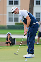 Wesley Bryan (USA) watches his putt on 2 during round 3 of the Honda Classic, PGA National, Palm Beach Gardens, West Palm Beach, Florida, USA. 2/25/2017.<br /> Picture: Golffile | Ken Murray<br /> <br /> <br /> All photo usage must carry mandatory copyright credit (&copy; Golffile | Ken Murray)