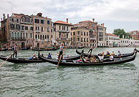 Gondola traffic on the Canal Grande (Grand Canal) in Venice, Italy during the morning on Tuesday, May 29, 2018.<br /> CAP/MPI/RS<br /> &copy;RS/MPI/Capital Pictures