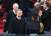 Supreme Court Chief Justice John Roberts arrives for the Inauguration Ceremony of President Donald Trump on the West Front of the U.S. Capitol on January 20, 2017 in Washington, D.C.  Trump became the 45th President of the United States.      <br /> Credit: Pat Benic / Pool via CNP