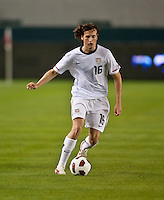 CARSON, CA – JANUARY 22: USA midfielder Mixx Diskerud (16) during the international friendly match between USA and Chile at the Home Depot Center, January 22, 2011 in Carson, California. Final score USA 1, Chile 1.