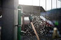 water for cleaning the bikes from dirt<br /> <br /> Superprestige Francorchamps 2014