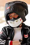 14 December 2006: Helen Upperton, from Canada, wears a warming hood while awaiting the start of her training run in preparation for the World Cup Bobsleigh Competition at the Olympic Sports Complex on Mount Van Hoevenburg  in Lake Placid, New York, USA.&amp;#xA;&amp;#xA;Mandatory Photo credit: Ed Wolfstein Photo<br />