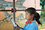 A girl in class in Pida, a village in Nepal's Dhading District where the United Methodist Committee on Relief (UMCOR), a member of the ACT Alliance, is helping families to rebuild their lives in the wake of the 2015 earthquake that ravaged much of Nepal.