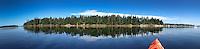 Panorama of Nautilus Island and Kayak, Castine, Maine, US