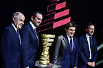 Route presentation for the 103rd edition of the Giro d'Italia 2020. L-R Renato Di Rocco, Vincenzo Spadafora, Urbano Cairo, Giuseppe Sala. Held in the RAI Studios, Milan, Italy. <br /> 24th October 2019.<br /> Picture: LaPresse/Marco Alpozzi | Cyclefile<br /> <br /> All photos usage must carry mandatory copyright credit (© Cyclefile | LaPresse/Marco Alpozzi)