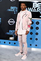 LOS ANGELES - JUN 25:  Algee Smith at the BET Awards 2017 at the Microsoft Theater on June 25, 2017 in Los Angeles, CA