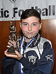 Ardee United Under 11 player of the year David Magee at the Ardee Celtic annual awards night in Ardee parish centre. Photo:Colin Bell/pressphotos.ie