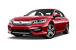 Stock pictures of low aggressive front three quarter view of 2017 Honda Accord Sport 4 Door Sedan Low Aggressive
