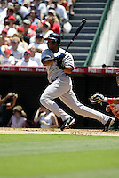 Anaheim, CA July 24, 2005: Bernie Williams  In a MLB game played between the New York Yankees and the Los Angeles AngelsAnaheim, CA July 24, 2005 In a MLB game played between the New York Yankees and the Los Angeles Angels