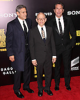 "NEW YORK, NY - FEBRUARY 04: George Clooney, Bob Balaban, Jean Dujardin at the New York Premiere Of Columbia Pictures' ""The Monuments Men"" held at Ziegfeld Theater on February 4, 2014 in New York City, New York. (Photo by Jeffery Duran/Celebrity Monitor)"