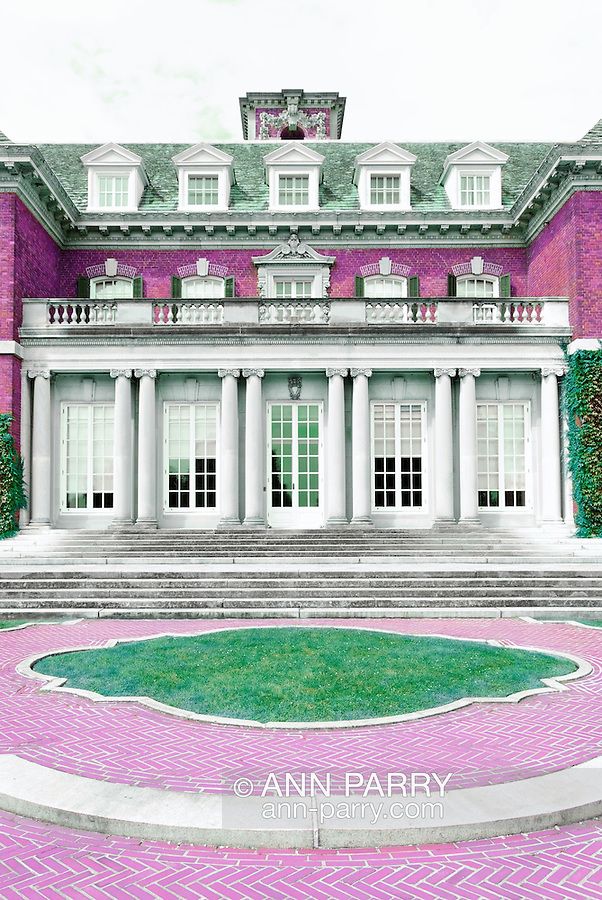 Mansion with Gardens outdoors, Long Island, NY,  Summer 2009