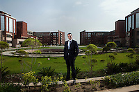 Atul Chauhan, the chancellor of Amity University, an Indian university that will be opening a campus in Dubai in the near future, poses for a portrait in the sprawling Amity University campus in Noida, Uttar Pradesh, India.  Dubai, a regional hub for education, is one of 25 countries in which they are expanding over the next four to five years. Photo by Suzanne Lee/The National