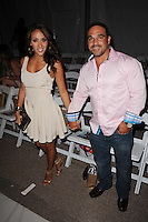 MIAMI BEACH, FL - JULY 22: Melissa Gorga and Joe Gorga attend the L Space By Monica Wise show during Mercedes-Benz Fashion Week Swim 2013 at The Raleigh on July 22, 2012 in Miami Beach, Florida. &copy;&nbsp;mpi04/MediaPunch Inc /NortePhoto.com*<br />