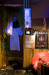 Photo shows the entrance to a ghost-themed restaurant in the trendy neighborhood of Kichijoji in Musashino City,  Tokyo, Japan on 16 Sept. 2012.  Photographer: Robert Gilhooly