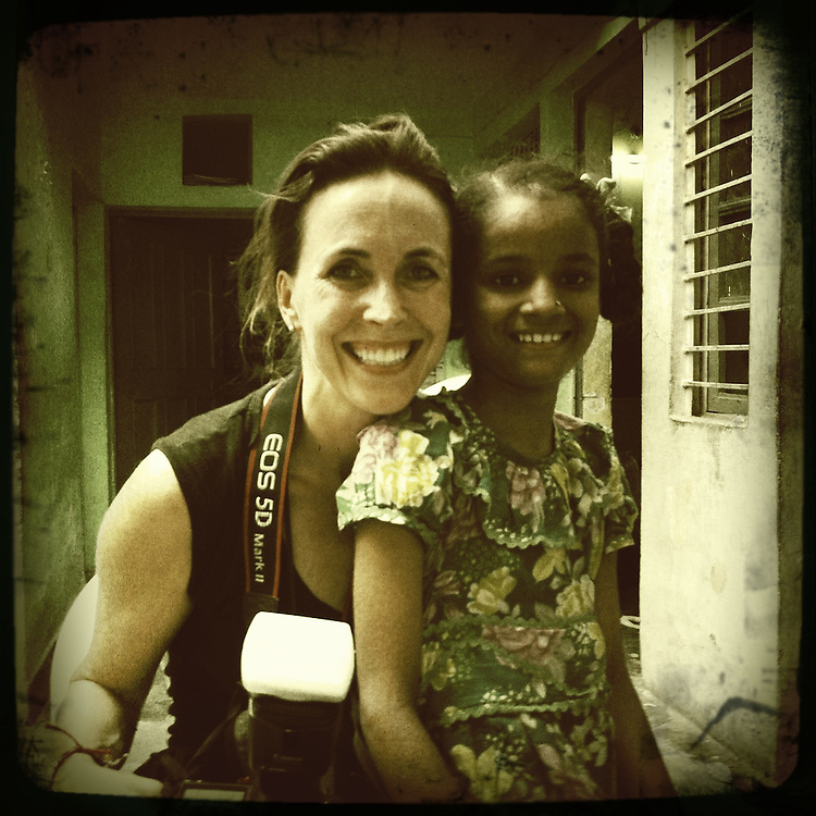 10x10 Producer Martha Adams with Parvati in India