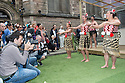 Edinburgh, UK. 04.08.2014.  New Zealand at Edinburgh 2014 Season Media Launch launches at the Assembly Roxy, Backyard Bar. Picture shows: Haka by Te Matatini. Photograph © Jane Hobson