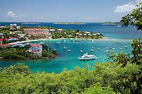 Cruz Bay from the over-look.St John.U.S. Virgin Islands