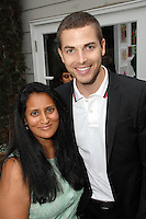 Alpita Patel, Jesse Giddings==<br /> LAXART 5th Annual Garden Party Presented by Tory Burch==<br /> Private Residence, Beverly Hills, CA==<br /> August 3, 2014==<br /> ©LAXART==<br /> Photo: DAVID CROTTY/Laxart.com==