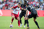 West Bromwich Albion midfielder Jake Livermore (L) competes for the ball with Crystal Palace midfielder Jeffrey Schlupp (R) during the Premier League Asia Trophy match between West Bromwich Albion and Crystal Palace at Hong Kong Stadium on 22 July 2017, in Hong Kong, China. Photo by Weixiang Lim / Power Sport Images