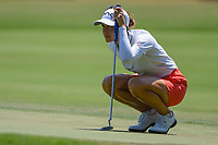 Azahara Munoz (ESP) lines up her putt on 4 during round 1 of the 2019 US Women's Open, Charleston Country Club, Charleston, South Carolina,  USA. 5/30/2019.<br /> Picture: Golffile | Ken Murray<br /> <br /> All photo usage must carry mandatory copyright credit (© Golffile | Ken Murray)