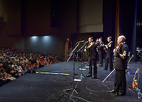 STAFF PHOTO BEN GOFF  @NWABenGoff -- 09/22/14 The U.S. Navy Band country/bluegrass ensemble Country Current performs for a packed house in the Arend Arts Center at Bentonville High School on Monday September 22, 2014. The band from Washington, D.C. is currently on a 13-city tour through the Southern states.