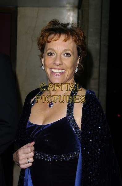ESTHER RANTZEN.The Water Rats Annual Ball, Grosvenor House.Park Lane Hotel, London, England, .November 19th 2006..half length blue dress necklace smiling eye contact.CAP/CAN.©Can Nguyen/Capital Pictures