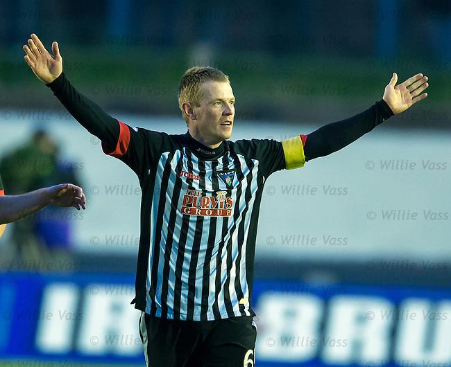 Andy Geggan celebrates his goal