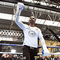 David Haye, British boxer, who's won the major world cruiserweight titles and The World Boxing Association (WBA) World Heavyweight Championship and Tony Bellew, Liverpudlian boxer Bellew take part in media workout ahead of their fight on Saturday, at Spitalfields Market, London, England on May 02, 2018<br /> CAP/JOR<br /> ©JOR/Capital Pictures /MediaPunch ***NORTH AND SOUTH AMERICAS ONLY***