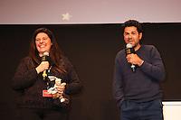JAMEL DEBBOUZE AVEC LA GAGNANTE DES DEUX SEJOURS AU MARRAKECH DU RIRE - 20EME FESTIVAL INTERNATIONAL DU FILM DE COMEDIE DE L'ALPE D'HUEZ 2017