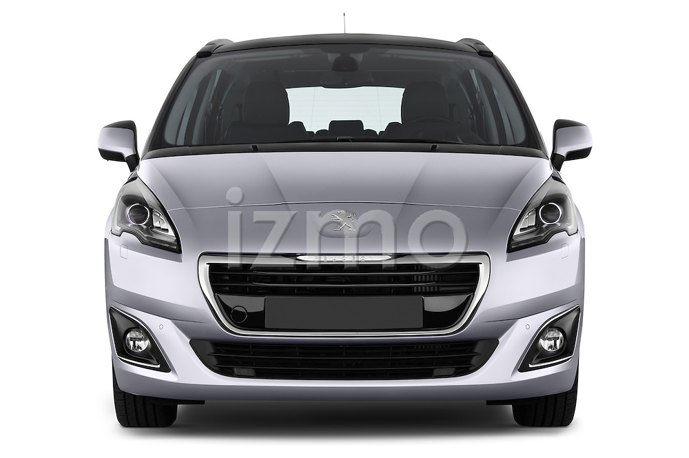 Straight front view of a 2014 Peugeot 5008 Allure 5 Door Mini Mpv 2WD.