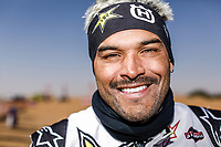 12th January 2020, Riyadh, Saudi Arabia;  Quintanilla Pablo (chl), Husqvarna, Rockstar Energy Husqvarna Factory Racing Bike, portrait during Stage 7 of the Dakar 2020 between Riyadh and Wadi Al-Dawasir, 741 km - SS 546 km, in Saudi Arabia - Editorial Use