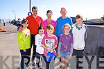 Pictured at Reen Pier Ballinskelligs for the Fun Run over Bolus Head in aid of The Cill Rialaig Arts Centre with Sonia O'Sullivan were front l-r; Aoibhinn Fitzgerald, Siun Fitzgerald, Cillian O'Connell, Eppie Gavan, Ruairí O'Connell, back l-r; Maurice Fitzgerald, Sonia O'Sullivan & Lorcan Murphy.