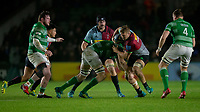 Harlequins' Alex Dombrandt in action during todays match<br /> <br /> Photographer Bob Bradford/CameraSport<br /> <br /> Gallagher Premiership Round 7 - Harlequins v Newcastle Falcons - Friday 16th November 2018 - Twickenham Stoop - London<br /> <br /> World Copyright © 2018 CameraSport. All rights reserved. 43 Linden Ave. Countesthorpe. Leicester. England. LE8 5PG - Tel: +44 (0) 116 277 4147 - admin@camerasport.com - www.camerasport.com