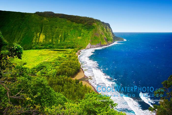 Waipio or Waipi`o Valley, Big Island, Hawaii, Pacific Ocean