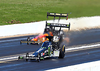 May 21, 2017; Topeka, KS, USA; NHRA top fuel driver Brittany Force sets a national speed record of 333.66 mph during the Heartland Nationals at Heartland Park Topeka. Mandatory Credit: Mark J. Rebilas-USA TODAY Sports