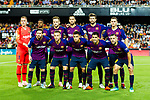 FC Barcelona squad pose for team photo during their La Liga 2018-19 match between Valencia CF and FC Barcelona at Estadio de Mestalla on October 07 2018 in Valencia, Spain. Photo by Maria Jose Segovia Carmona / Power Sport Images