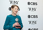 NEW YORK, NY - JUNE 10:  Glenda Jackson, winner of the award for Best Performance by an Actress in a Leading Role in a Play for 'Three Tall Women,' poses in the 72nd Annual Tony Awards Press Room at 3 West Club on June 10, 2018 in New York City.  (Photo by Walter McBride/WireImage)