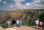 Visitors viewing the Grand Canyon from the South Rim, Grand Canyon National Park, Arizona, USA