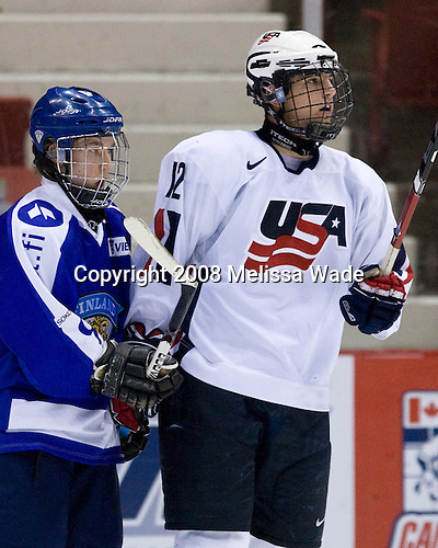 ?, Chris Brown (US - 12) - Team USA defeated Team Finland 3-2 to win the Four Nations Cup (Under-18 boys) on Saturday, November 9, 2008 in the 1980 Rink in Lake Placid, New York.