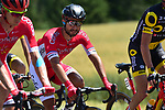 The peloton including Nacer Bouhanni (FRA) Cofidis in action during Stage 4 of the 104th edition of the Tour de France 2017, running 207.5km from Mondorf-les-Bains, Luxembourg to Vittel, France. 4th July 2017.<br /> Picture: ASO/Pauline Ballet | Cyclefile<br /> <br /> <br /> All photos usage must carry mandatory copyright credit (&copy; Cyclefile | ASO/Pauline Ballet)