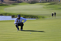 Tiger Woods (Team USA) on the 10th green during Saturday's Foursomes Matches at the 2018 Ryder Cup 2018, Le Golf National, Ile-de-France, France. 29/09/2018.<br /> Picture Eoin Clarke / Golffile.ie<br /> <br /> All photo usage must carry mandatory copyright credit (© Golffile | Eoin Clarke)