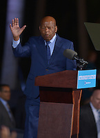 FT LAUDERDALE, FL - NOVEMBER 01: John Lewis, U.S. Representative (GA-05) speak before Democratic presidential nominee Hillary Clinton to a crowd of 4,300 supporters during a campaign rally at Reverend Samuel Delevoe Memorial Park on November 1, 2016 in Ft Lauderdale, Florida. The presidential general general election is November 8.  Credit: MPI10 / MediaPunch