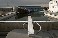 Swimming pool behind the Sea Bright Country Club, established in 1895, one of the oldest in the country.