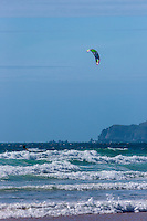Europe/France/Normandie/Basse-Normandie/50/Manche/ Vauville: l'Anse de Vauville: Plage  et Kitesurf //   <br />   France, Manche, Vauville, the beach on the Anse de Vauville, kitesurf