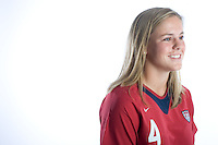 Cat Whitehill, USWNT Portraits, Carson, California, 2006.
