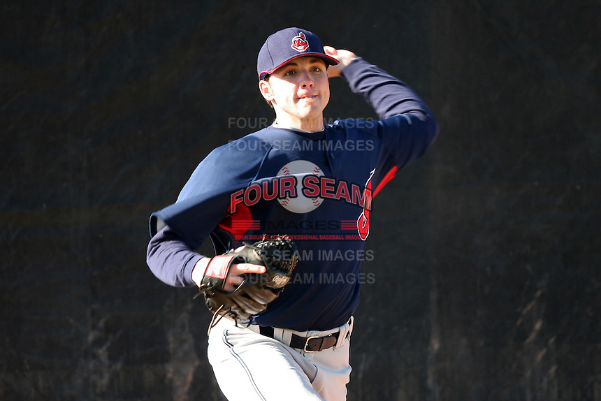 Cleveland Indians minor leaguer Aaron Laffey during Spring Training at the Chain of Lakes Complex on March 17, 2007 in Winter Haven, Florida.  (Mike Janes/Four Seam Images)