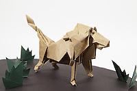 Origami lion designed by Hideo Komatsu and folded by Uttam Grandhi.