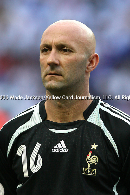 09 July 2006: Fabien Barthez (FRA), goalie.  Italy defeated France in a penalty kick shoot-out at the Olympiastadion in Berlin, Germany in match 64, the championship game, of the 2006 FIFA World Cup Finals.